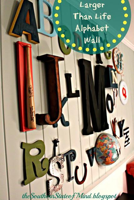 Pinterest Mission: Larger-Than-Life Alphabet Wall