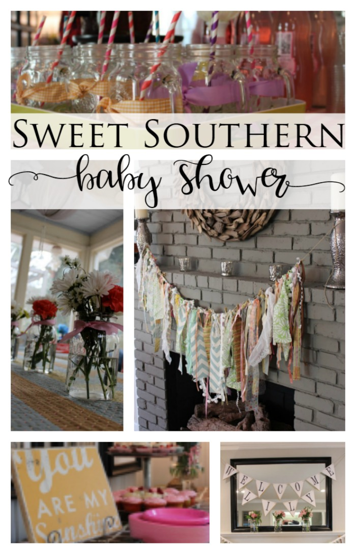 pink and green southern baby shower