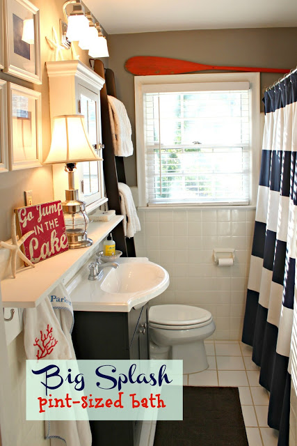 {Before and After} Big Splash for a Pint-Sized Bath