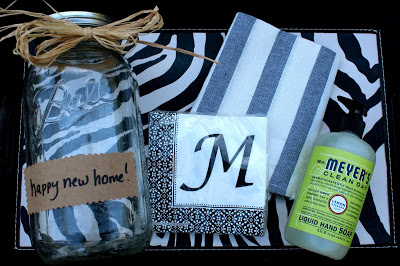 housewarming gift in mason jar