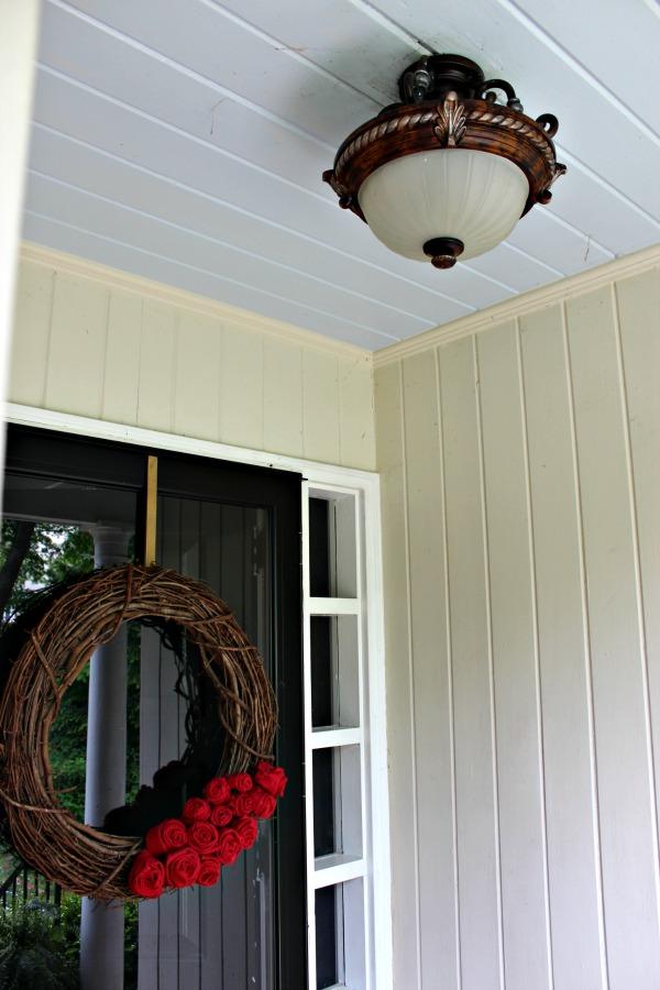 haint blue porch