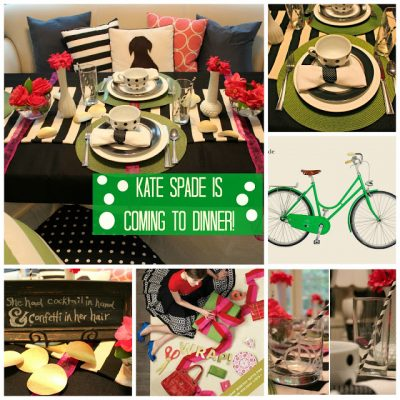 Kate Spade is Coming to Dinner!