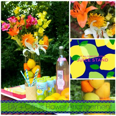 {Lilly Pulitzer Inspired} Lily + Citrus Flowers