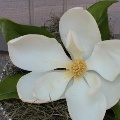 Lowcountry Inspired: Magnolia & Spanish Moss Centerpiece