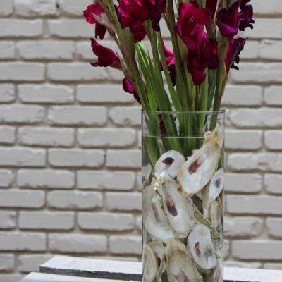 {Oyster Hysteria} Oyster Shell Flower Arrangement