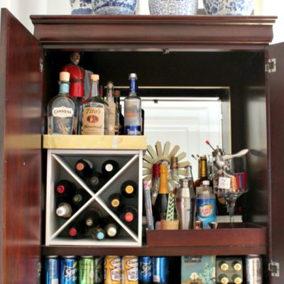 "How I Turned My Armoire Into a ""Bar""moire"