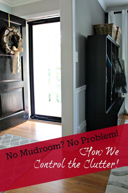 No Mudroom? No Problem! Our Makeshift Mudroom