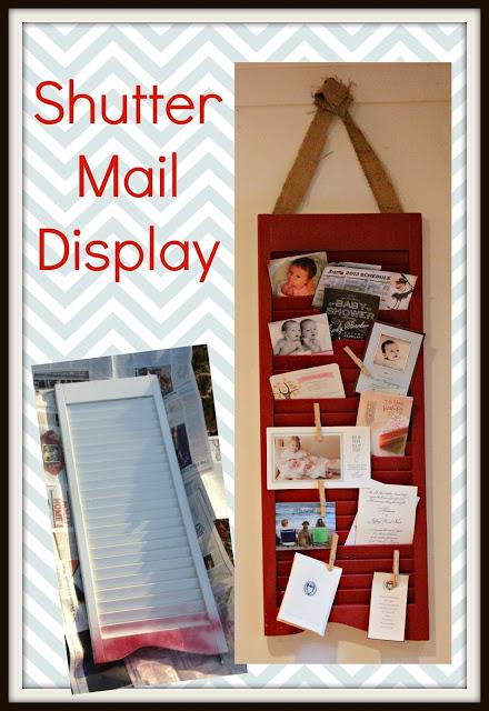 You've Got {Cute} Mail! DIY Shutter Display