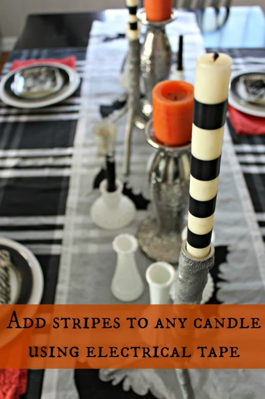 electric tape candles