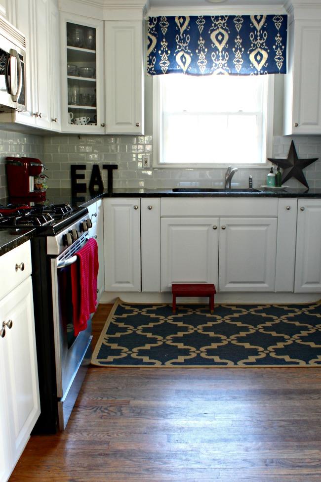 New Rug in Kitchen
