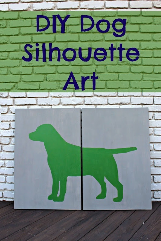 Diy Dog Silhouette Art And Our Family Dog Southern