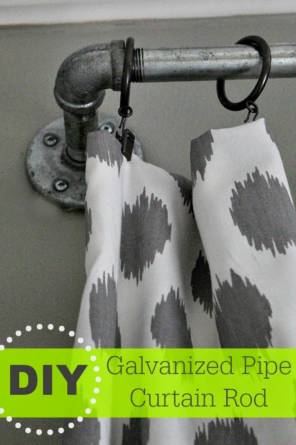 DIY Galvanized Curtain Rods