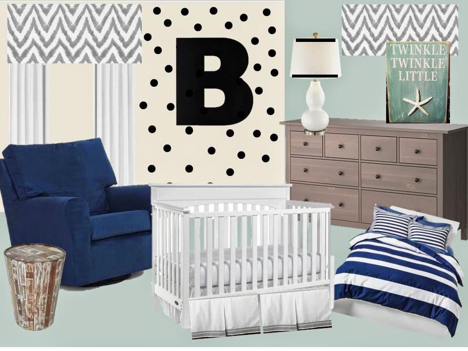 Baby Boy Nursery Ideas Mood Board