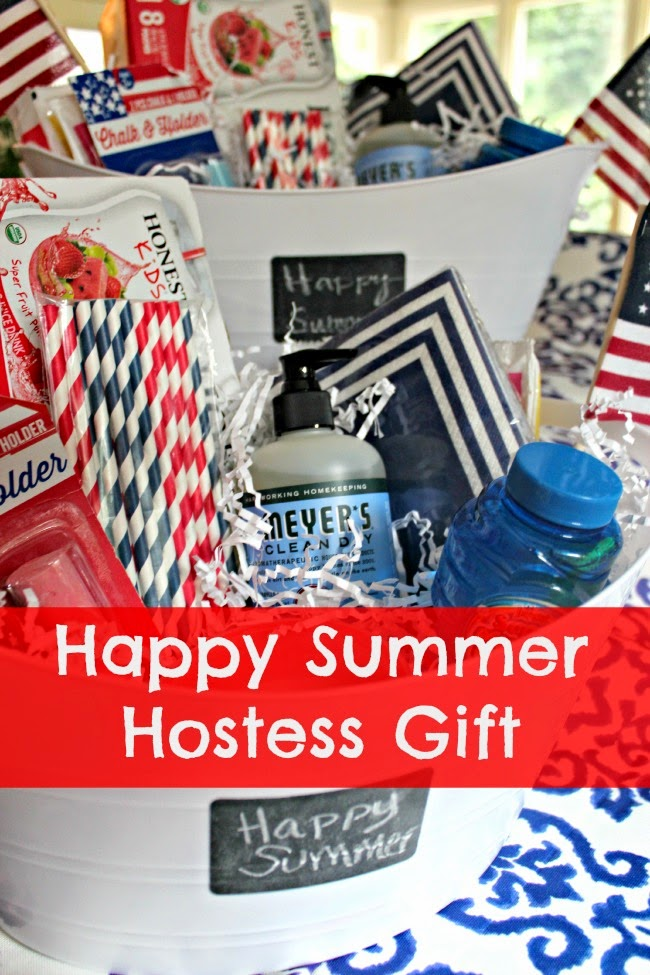 {Hostess Gift} Summer Fun In a Beverage Tub