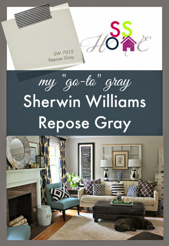 My Go-To Gray Paint Color: Repose Gray
