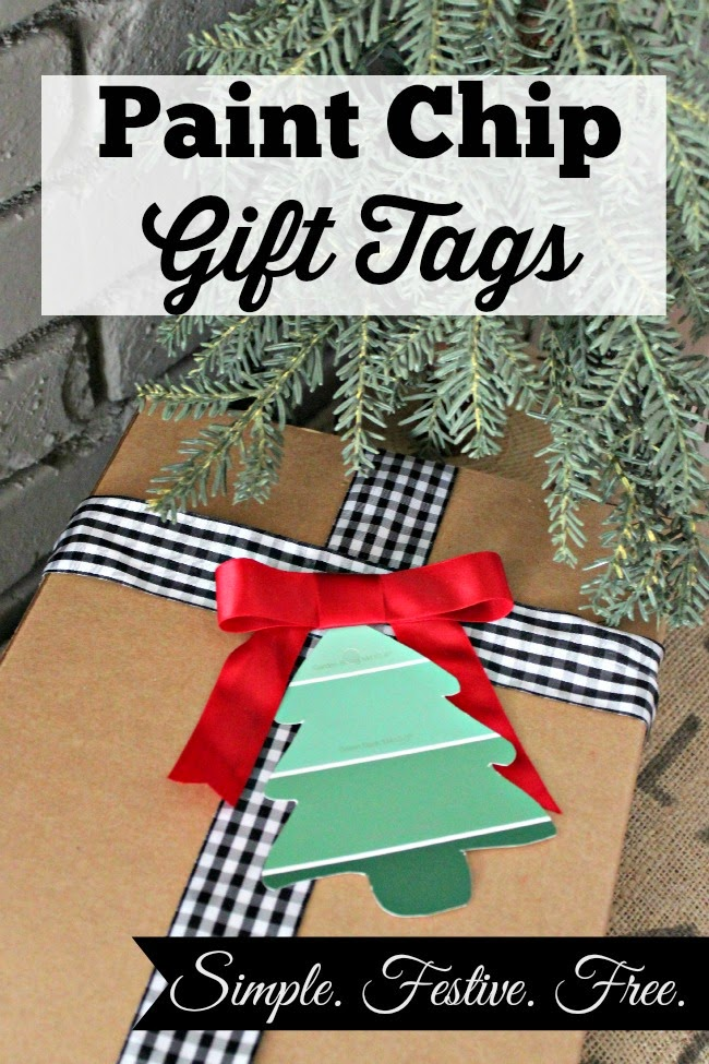 Paint Chip Gift Tags (with printable)