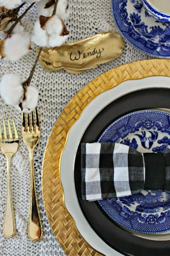 Thanksgiving Table Setting Coastal