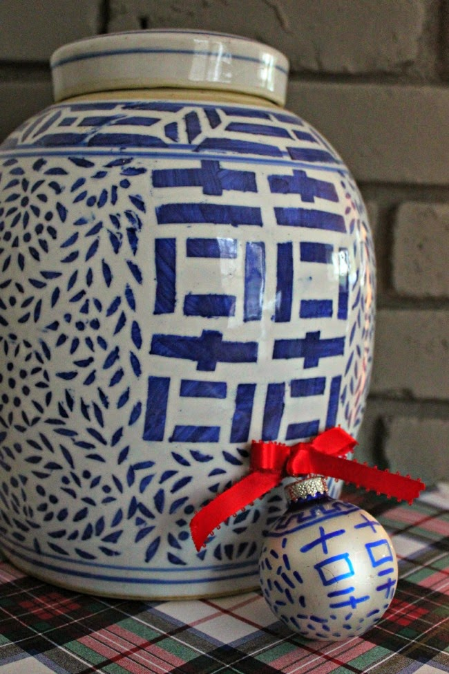 Diy Ornament Blue White Ginger Jar Inspired Southern State Of