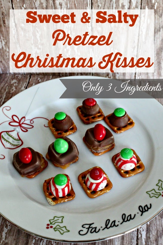 {3-Ingredient} Pretzel Christmas Kisses