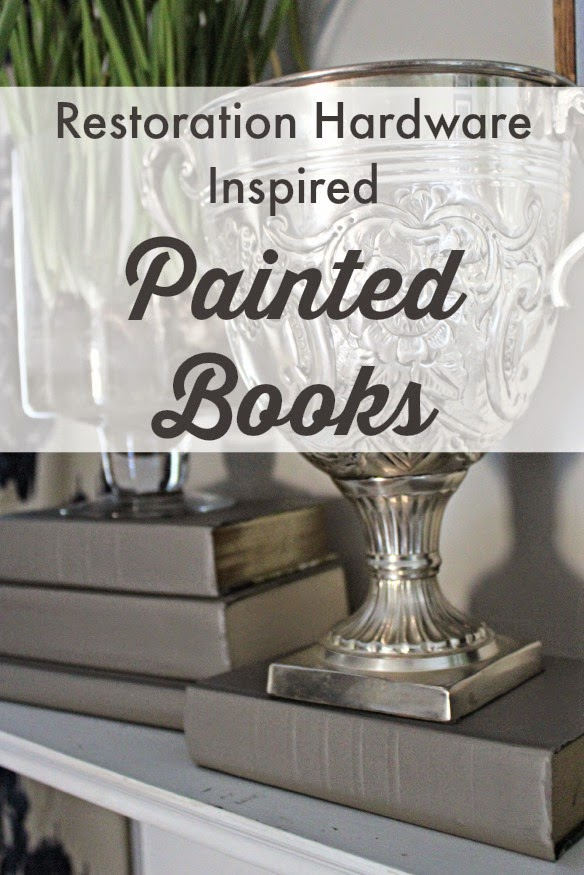 {Restoration Hardware Inspired} Painted Books