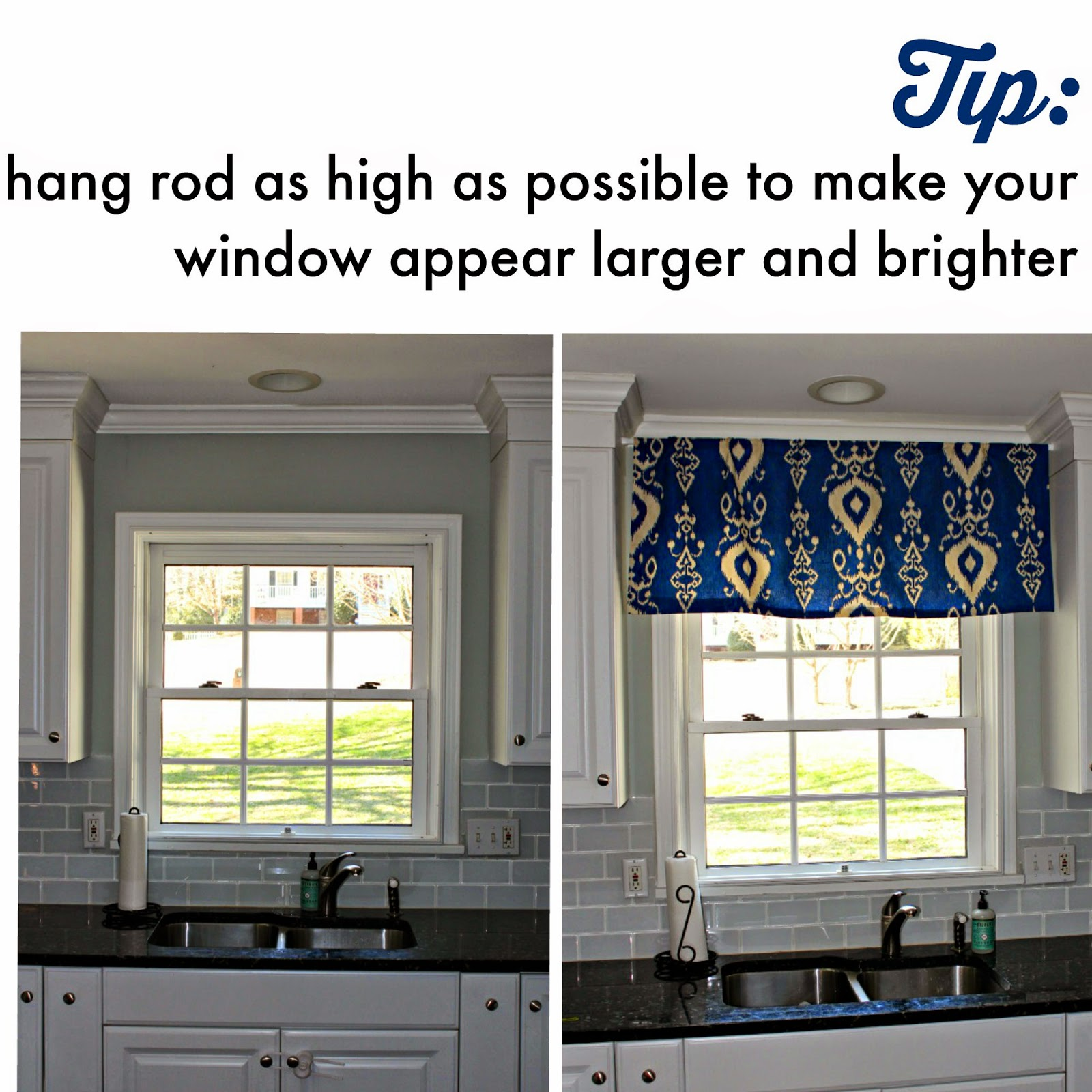 How To Hang Kitchen Valance Southern State Of Mind Blog By Heather