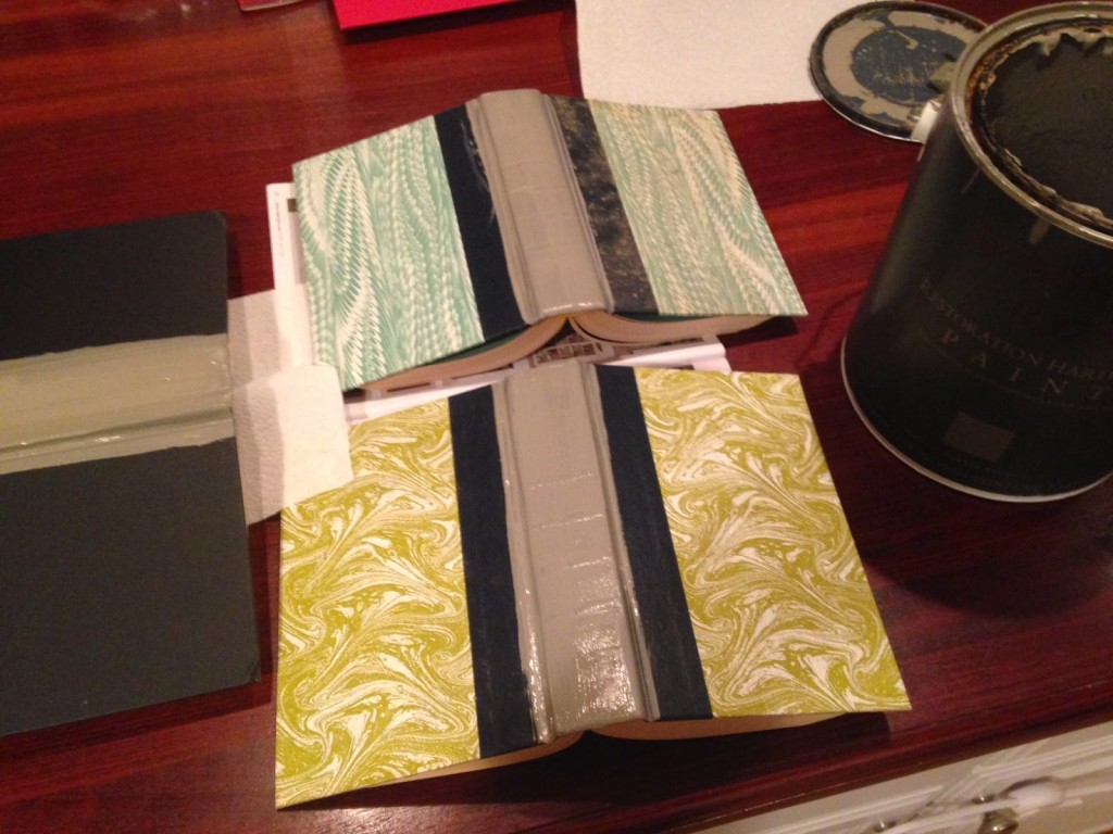 Restoration Hardware Knock Off DIY Painted Books