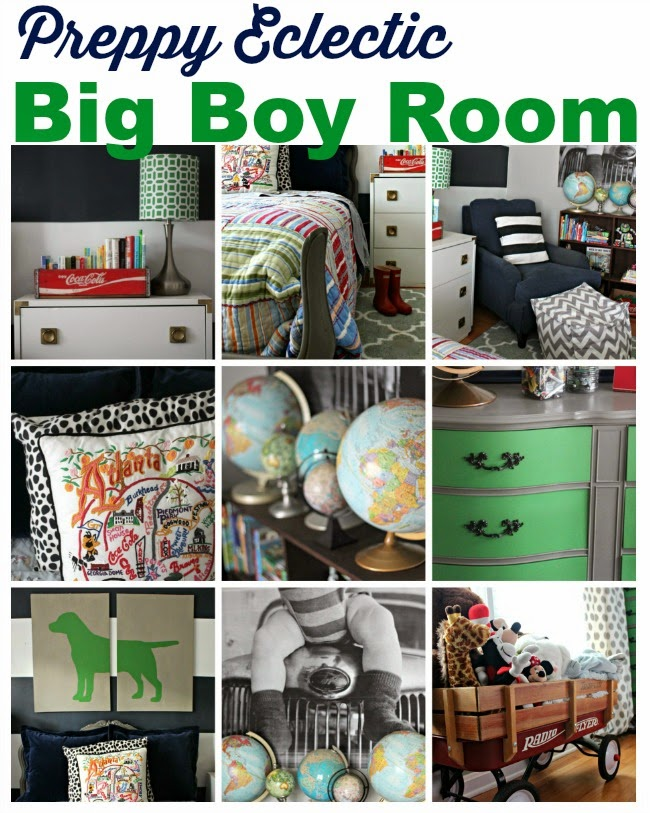 {Preppy Eclectic} Big Boy Room Reveal