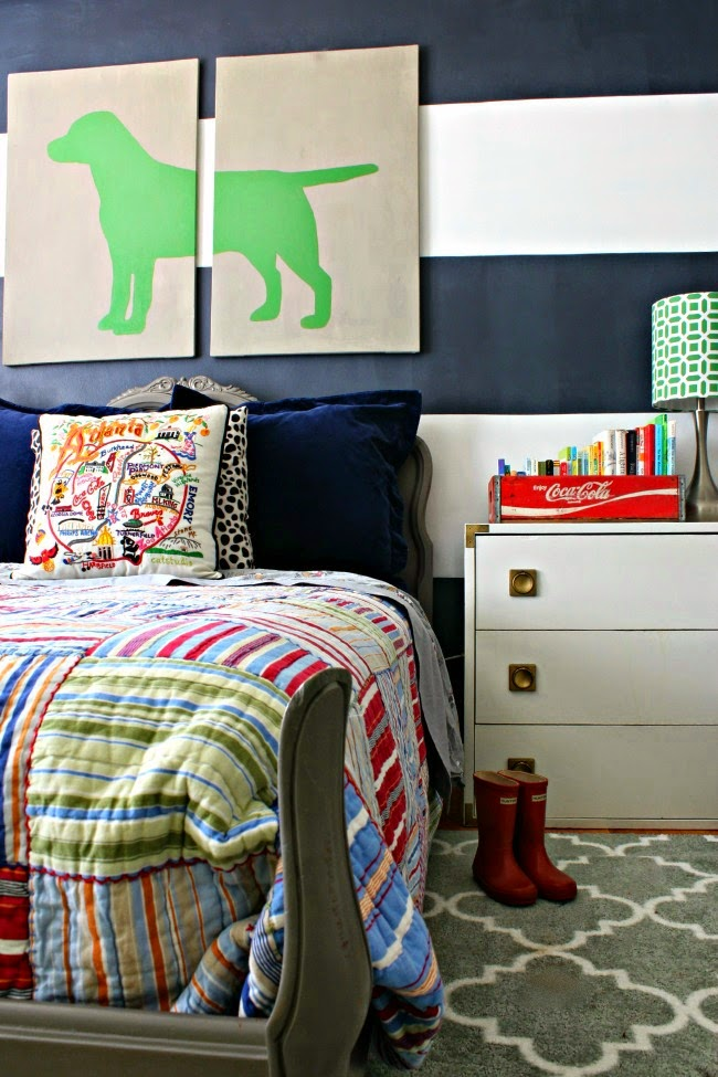 Preppy Eclectic Big Boy Toddler Room