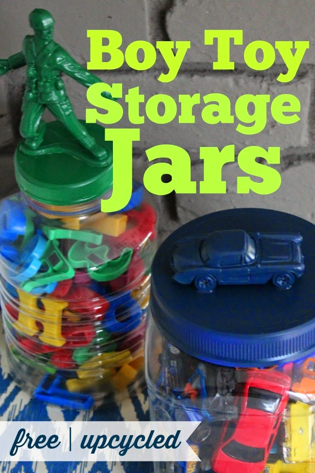 Upcycled Toy Storage Jars