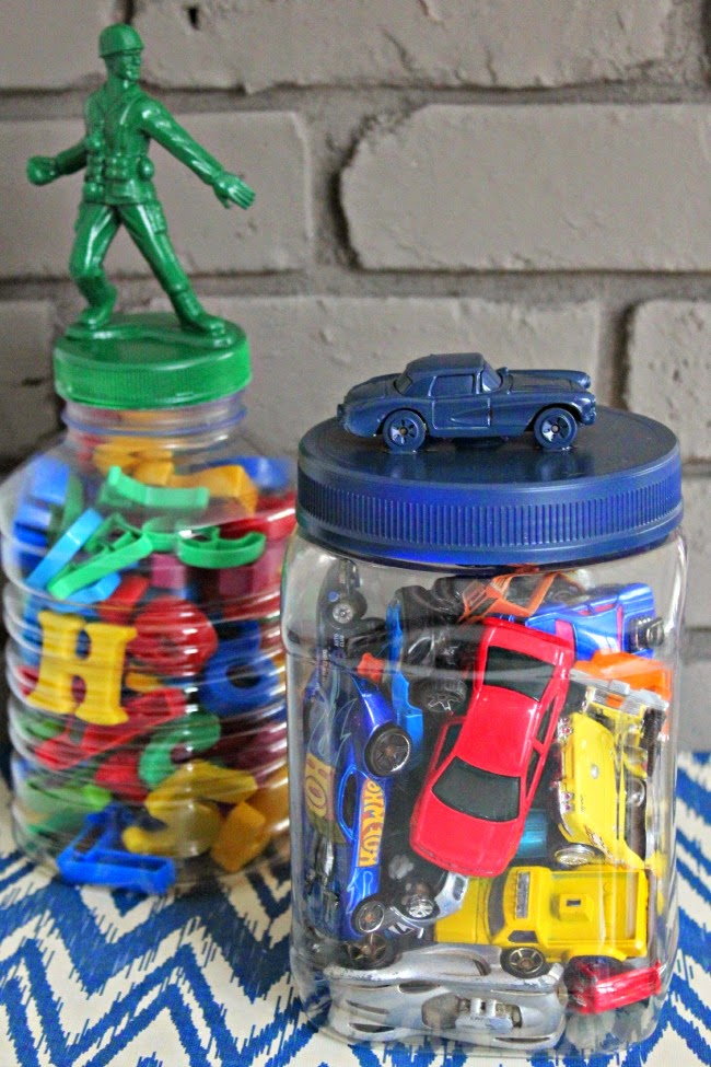 Matchbox Car Jar