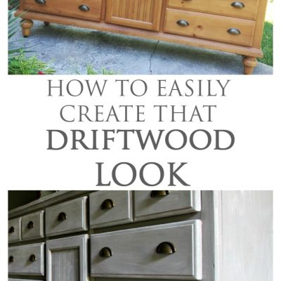 {THE FOYER} DIY Driftwood Dresser