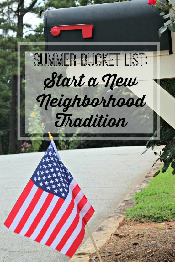 Wave Your Flag – Our New Neighborhood Tradition