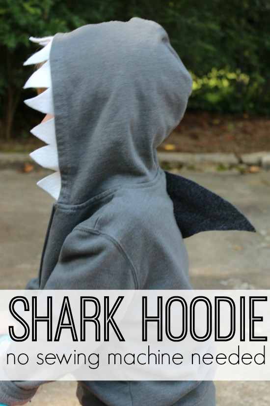 Shark Hoodie Costume Tutorial- No Sew