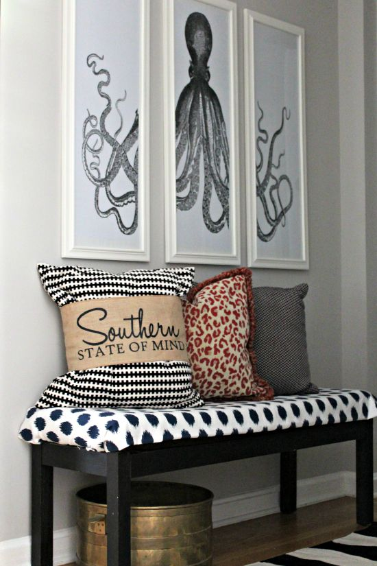 DIY Printable Octopus Triptych Art