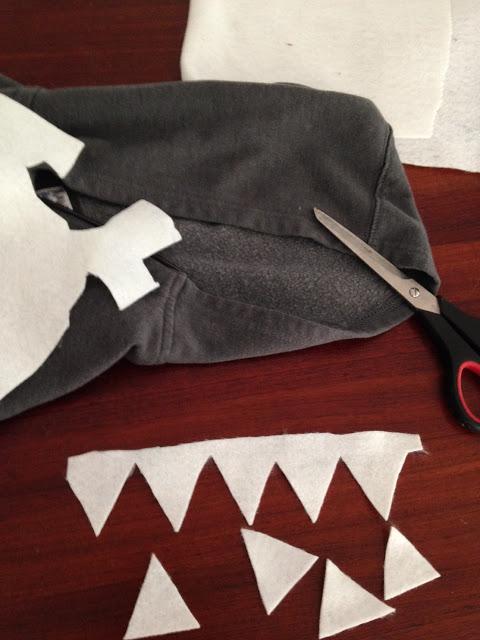 DIY No Sew Shark Hoodie