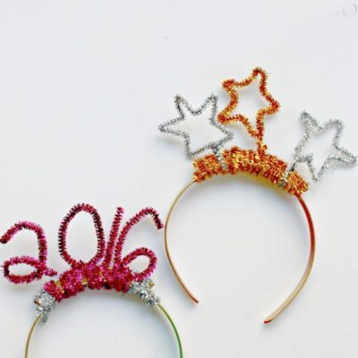 {New Years Eve} DIY Pipe Cleaner Headband