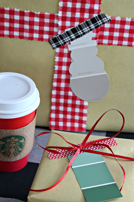 paint chip gift tag ideas