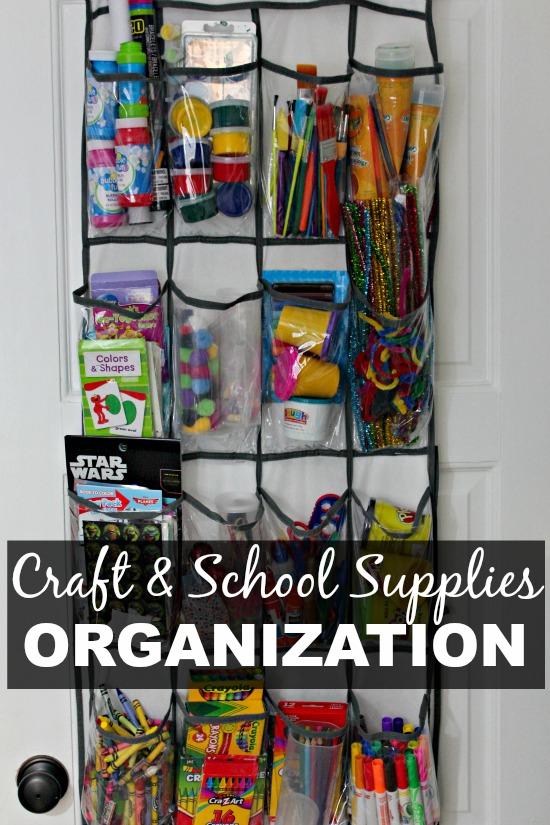 craft and school supplies organization