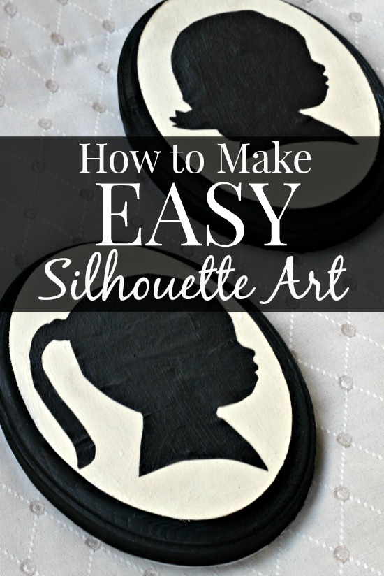 Easy DIY Silhouette Art Tutorial