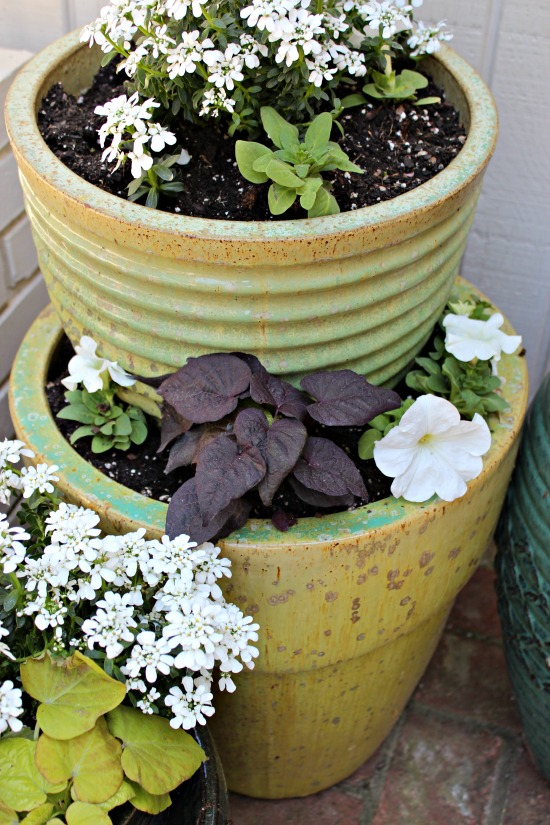 planters stacked