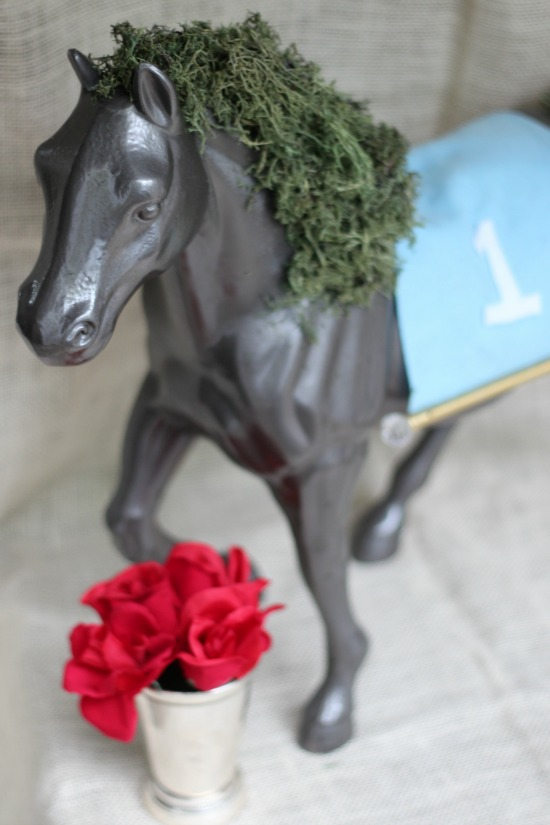 Derby Diy Horse Moss Centerpiece Southern State Of Mind