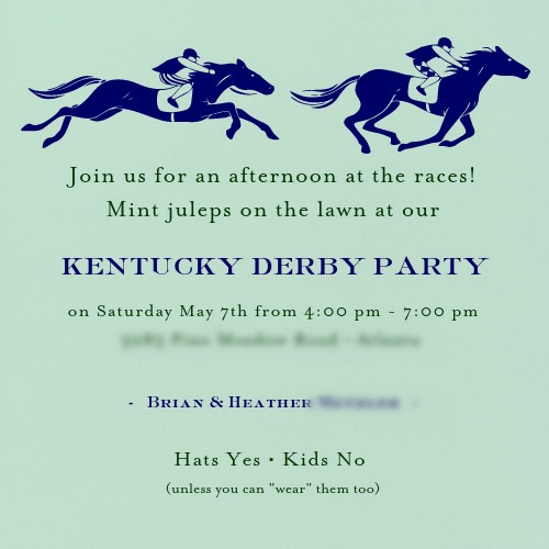 mint julep invite