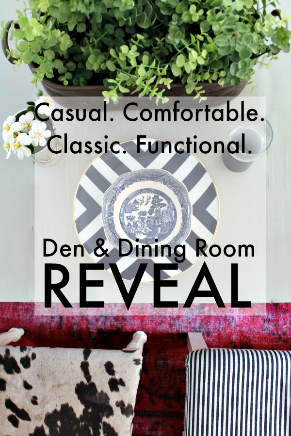 {One Room Challenge} Family Den and Dining Room Makeover Reveal