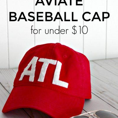 DIY Aviate Baseball Cap Tutorial {for Under $10}