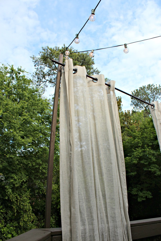 hanging outdoor curtains for privacy