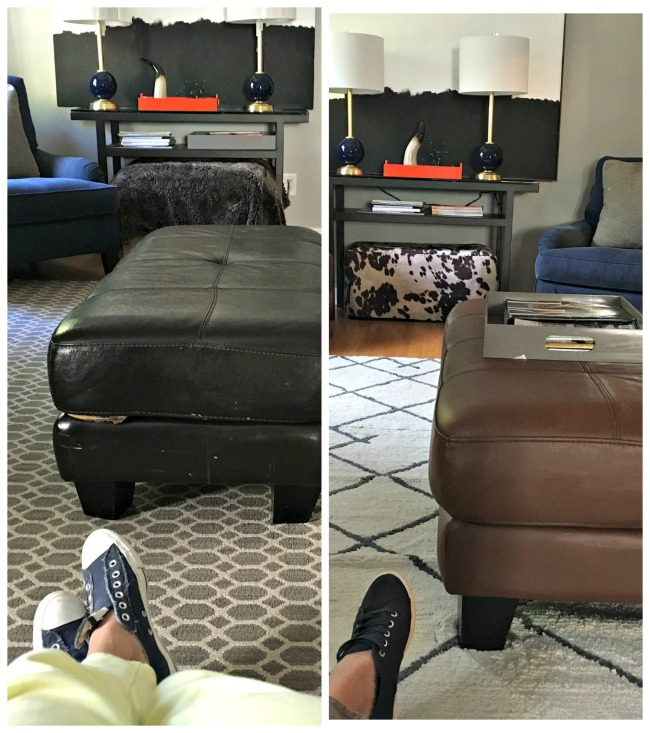 leather-ottoman-makeover