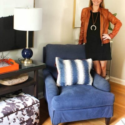 {One Room Challenge} Mad Men Meets the South Living Room Reveal