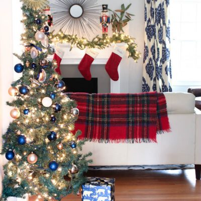 {Living Room} 2016 Blue Christmas Home Tour Part 4