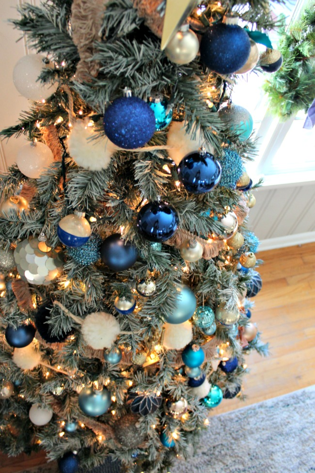 christmas tree blue ornaments - Navy Blue Christmas Decorations