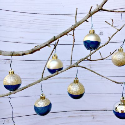 {Five Minute Friday} DIY Paint Dipped Ornament